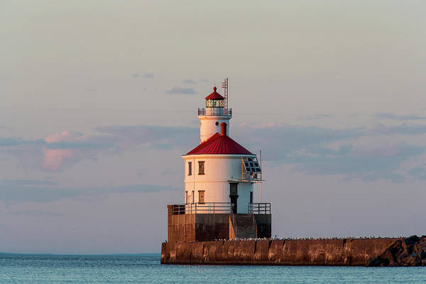 Lake Superior Photograph - Wisconsin Point Lighthouse Near by Danita Delimont