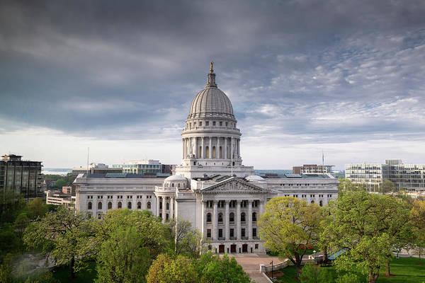 Wall Art - Photograph - Wisconsin State Capital Exterior by Steve Gadomski