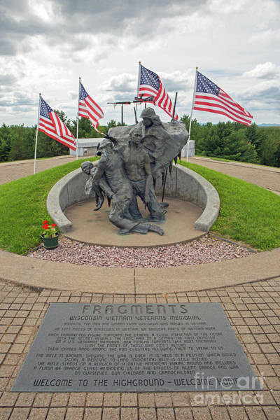 Photograph - Wisconsin Vietnam War Memorial by Kevin McCarthy