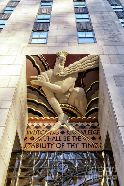 Photograph - Wisdom At Rockefeller Center by John Rizzuto