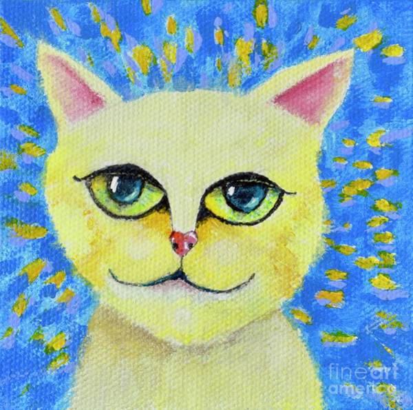 Painting - Wise Cat by Mary Scott