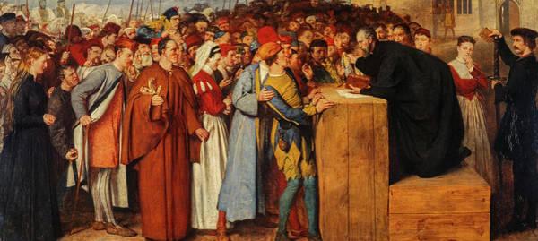 Church Of Scotland Wall Art - Painting - Wishart Preaching Against Mariolatry  by William Fettes Douglas
