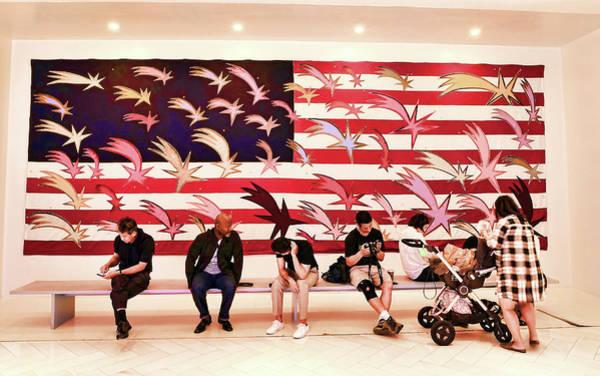Wall Art - Photograph - Wishing Stars American Flag Mural by Allen Beatty