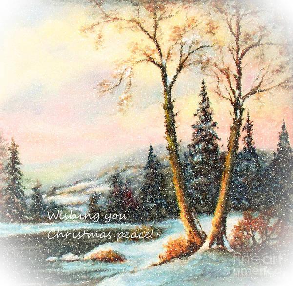 Wall Art - Painting - Wishing You Christmas Peace by Hazel Holland