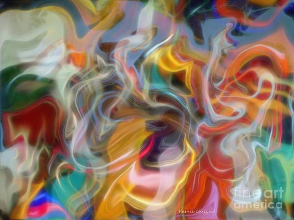 Digital Art - Wisps Of Color by Kathie Chicoine