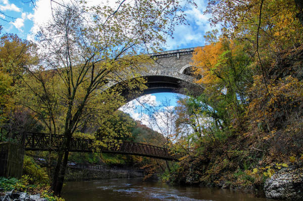 Wall Art - Photograph - Wissahickon Creek At The Henry Avenue Bridge - Autumn by Bill Cannon