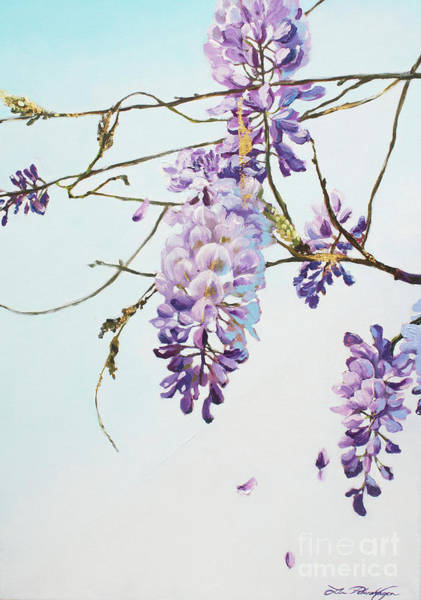 Norsk Painting - Wisteria Sinensis by Lin Petershagen