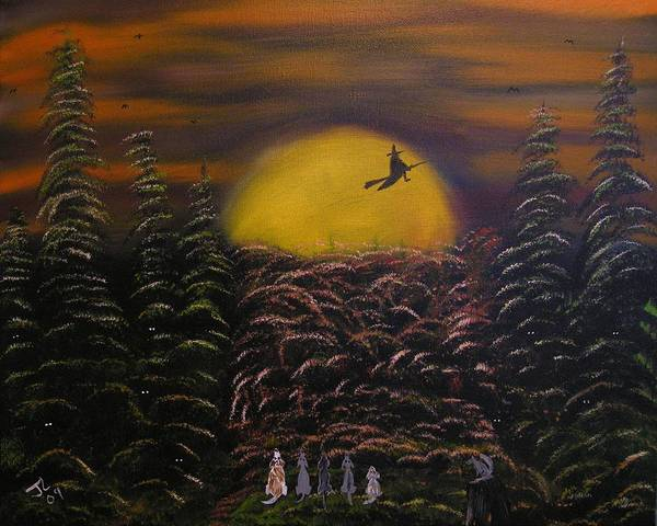Painting - Witch At Night by Jim Lesher