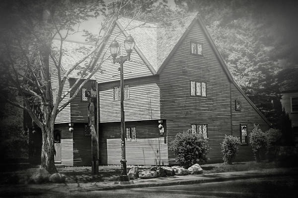Wall Art - Photograph - Witch House Salem Massachusetts In Black And White by Carol Japp