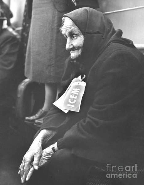 Photograph - With None Of Her Family Left Alive In by New York Daily News Archive