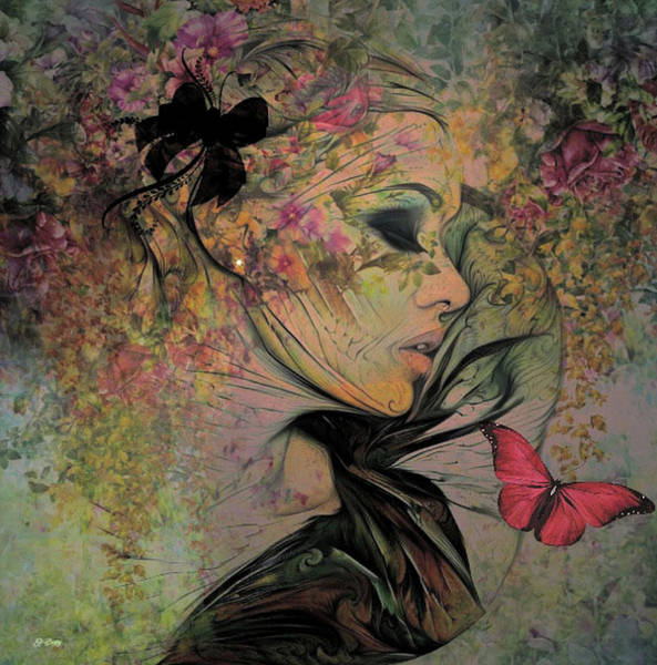 Botany Mixed Media - With The Grace Of A Woman 002 by G Berry