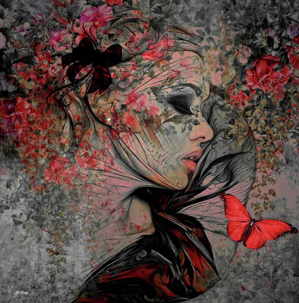Botany Mixed Media - With The Grace Of A Woman by G Berry