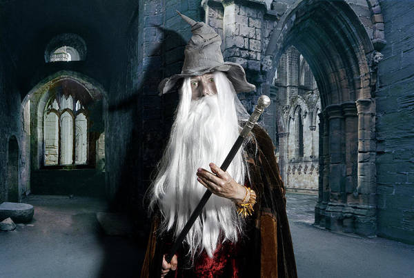 Wizard Hat Wall Art - Photograph - Wizard At Old Ruins, Close-up by Laurence Dutton