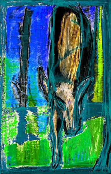 Digital Art - Wolf Digitally Altered 2 by Artist Dot