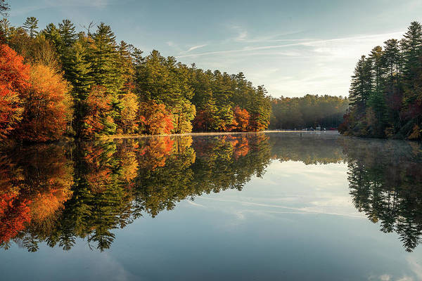 Photograph - Wolf Lake Morning Reflection by Donnie Whitaker
