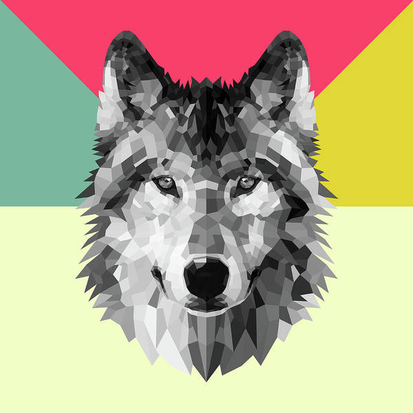 Wall Art - Digital Art - Wolf by Naxart Studio