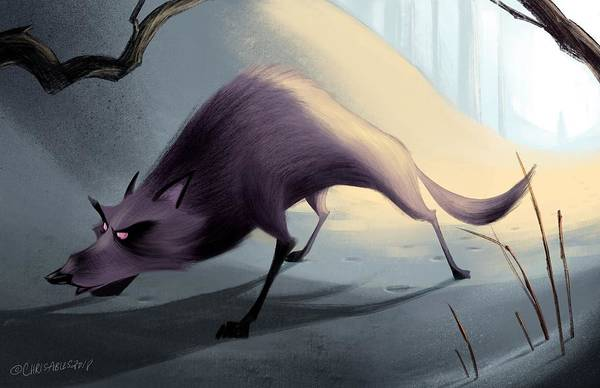 Wall Art - Digital Art - Wolf On The Prowl by Christopher Ables