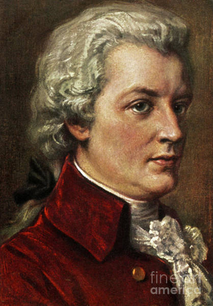 Wall Art - Painting - Wolfgang Amadeus Mozart by Unknown