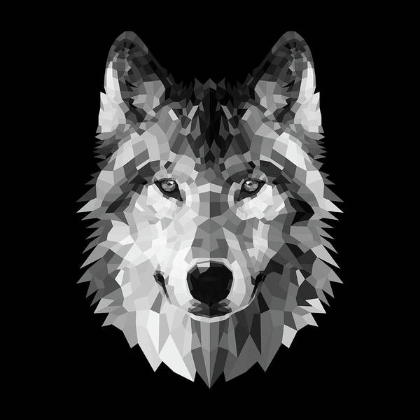 Wall Art - Digital Art - Wolf's Face by Naxart Studio
