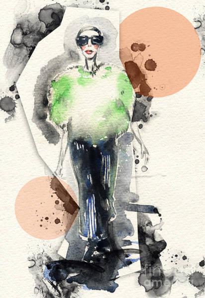 Face Paint Wall Art - Digital Art - Woman . Hand Painted Fashion by Anna Ismagilova