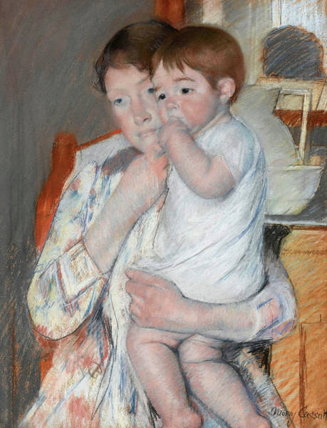 Wall Art - Painting - Woman And Child, 1893 by Mary Cassatt