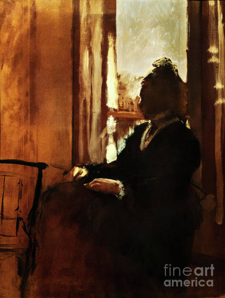 Painting - Woman At A Window by Edgar Degas