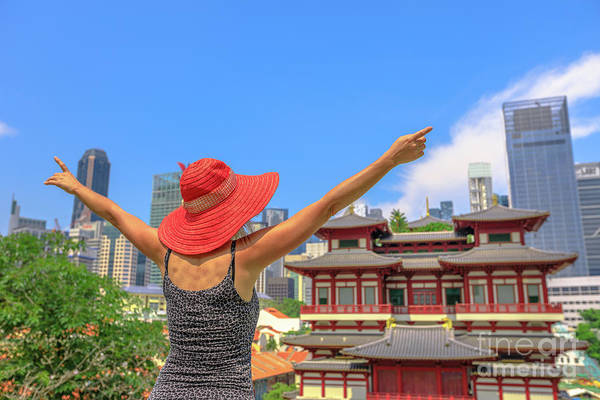 Photograph - Woman At Chinatown Singapore by Benny Marty