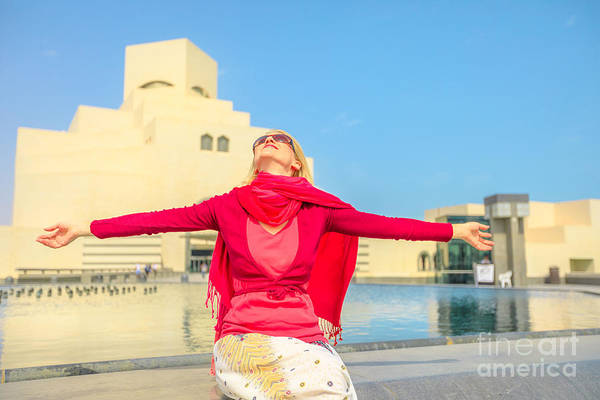 Photograph - Woman At Doha Museum by Benny Marty