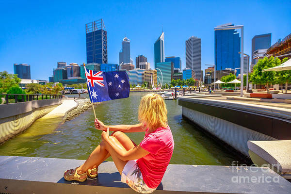 Photograph - Woman At Elizabeth Quay Marina by Benny Marty