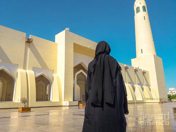 Photograph - Woman At Grand Mosque by Benny Marty