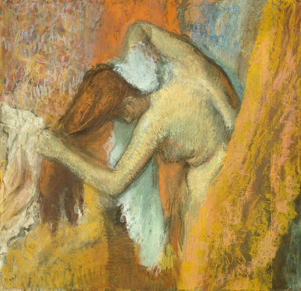 Wall Art - Pastel - Woman At Her Toilette, 1900-1905 by Edgar Degas