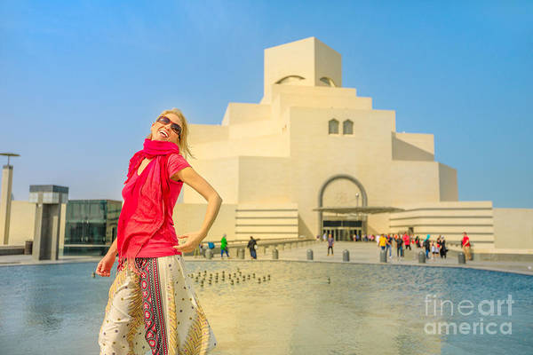 Photograph - Woman At Islamic Museum by Benny Marty