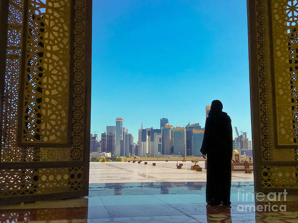Photograph - Woman At Mosque Doha by Benny Marty