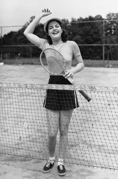Tennis Photograph - Woman At Tennis Court by George Marks
