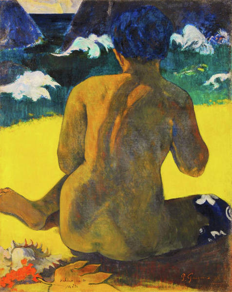 Wall Art - Painting - Woman At The Beach - Digital Remastered Edition by Paul Gauguin
