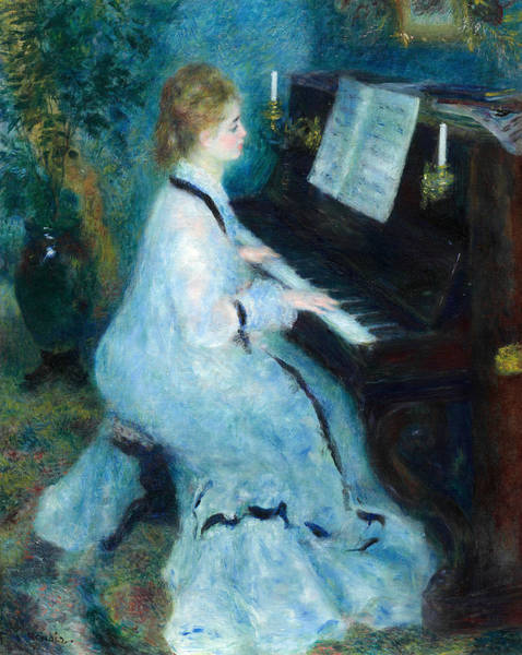 Painting - Woman At The Piano by Auguste Renoir