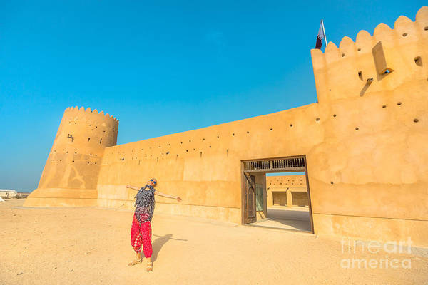 Photograph - Woman At Zubara Fort Qatar by Benny Marty