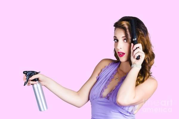 Hair Stylist Wall Art - Photograph - Woman Brushing Her Hair  by Jorgo Photography - Wall Art Gallery