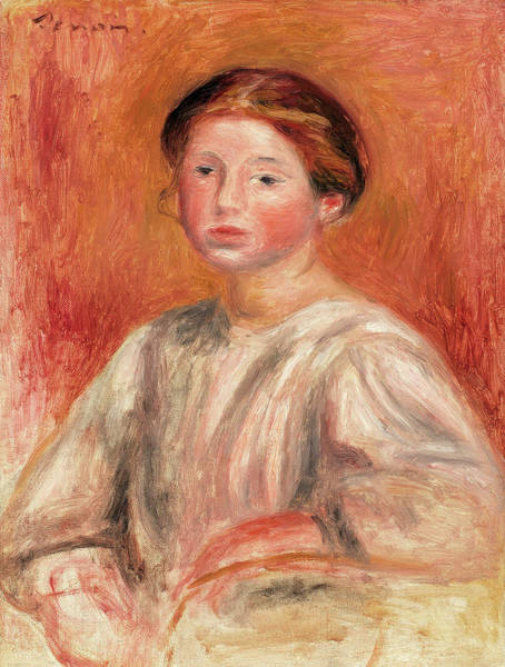 Wall Art - Painting - Woman Bust, 1911 by Pierre-Auguste Renoir