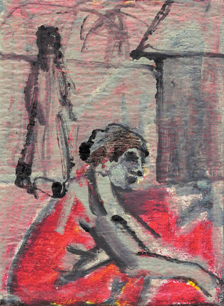 Painting - Woman By A Tap by Artist Dot
