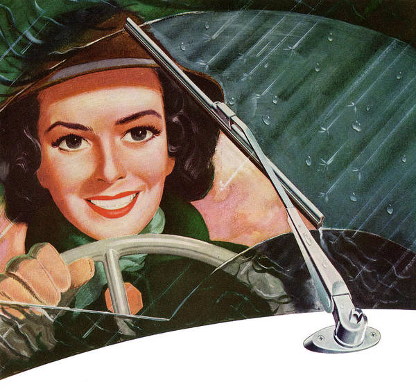 Driving Photograph - Woman Driving In Rain by Graphicaartis