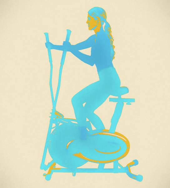 Painting - Woman Elliptical Pop Art by Dan Sproul