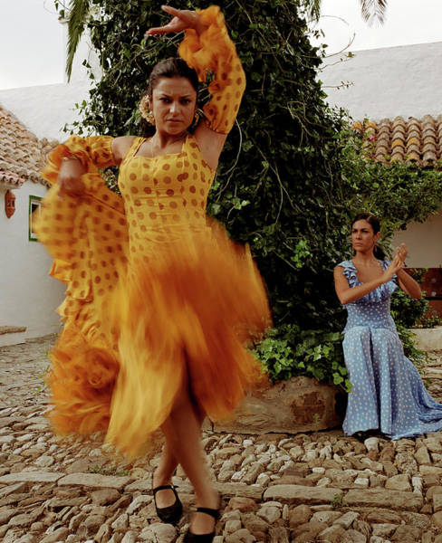 Traditional Clothing Photograph - Woman Flamenco Dancer, Outdoors by Tim Macpherson