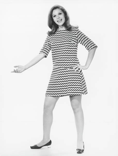 Hip Photograph - Woman Gesturing In Studio, B&w by George Marks