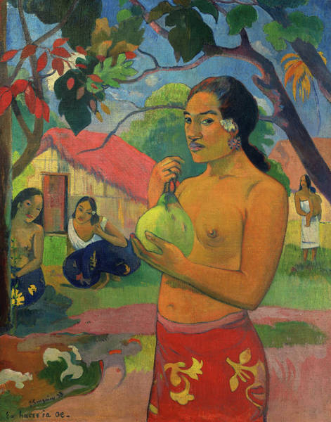 Wall Art - Painting - Woman Holding A Fruit, 1893 by Paul Gauguin