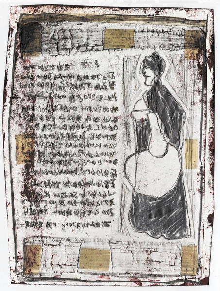 Mixed Media - Woman Holding A Shopping Bag by Artist Dot