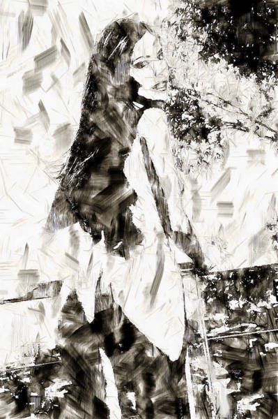 Digital Art - Woman Illustrative by Mario Carini