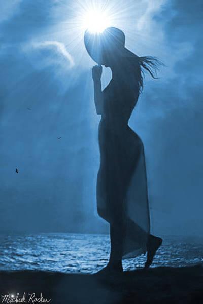 Wall Art - Photograph - Woman In Blue by Michael Rucker