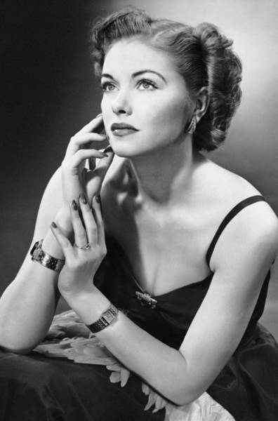 Beautiful People Photograph - Woman In Evening Wear by George Marks