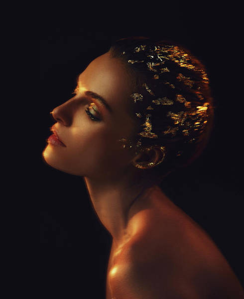 Photograph - Woman In Gold, 2015 by Chris Hunt